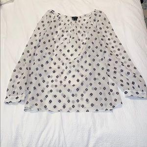 EUC J. Crew Factory black & white blouse